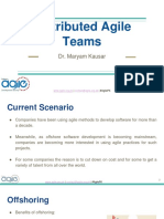 Distributed Agile Teams by Dr Maryam Kausar