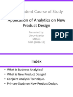 Application of Analytics on New Product Design