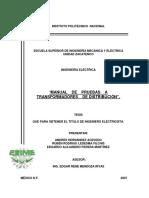 pruebas de transformadores