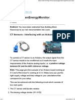 Current Transformers (CT) Sensors - Interfacing With an Arduino