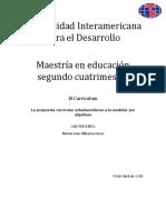 La Propuesta Curricular Estadounidense y La Modular Por Objetivos