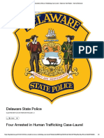 Four Arrested in Human Trafficking Case-Laurel - Delaware State Police - State of Delaware