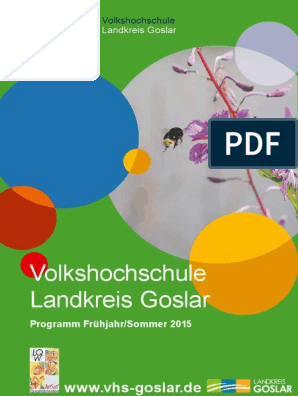Programmheft Vhs Goslar 1 2015