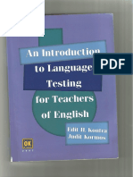 An Introduction to Language Testing for Teachers of English