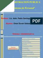 sistema de personal  del estado