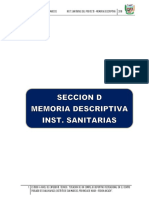 Memoria Descriptiva Sanitarias d