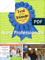 Best of the Triangle - Area Professionals 2018