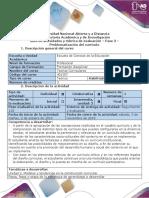 Guía de Actividades y Rúbrica de Evaluación - Fase 3 - Problematización Del Currículo