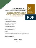 Taller de Serigrafia Para Los Pobladores Del Asentamiento Humano Las Torres de San Borja - Moche- La Libertad