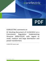 ++++1128 EURELECTRIC Postion Eco-Design Transformers FIN