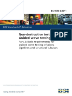 BS 9690-2-2011 Non-Destructive Testing-Guided Wave Testing Part 2 Basic Requirements for Guided Wave Testing of Pipes, Pipelines and Structural Tubulars