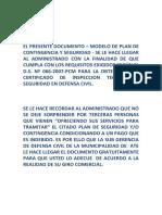Plan de Coningencia