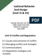 Organizational Behavior VI & VII