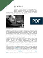 Bibliografia Miguel Angel Asturias