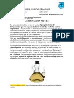 Productos sintetizados durante la fermentación