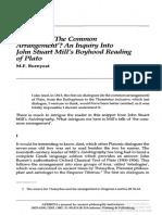An Inquiry Into Mill's Boyhood Reading of Plato