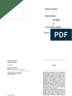 CÉSAIRE, Aimé. Discurso sobre o colonialismo.pdf