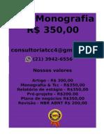 Tcc & Monografia Por 349,99 Whatsapp (21) 974111465 Editoracaoservicos@Gmail.com (30)