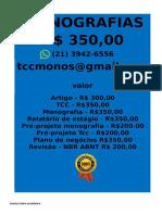 Tcc & Monografia Por 349,99 Whatsapp (21) 974111465 Editoracaoservicos@Gmail.com (59)