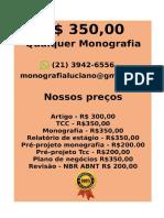 Tcc & Monografia Por 349,99 Whatsapp (21) 974111465 Editoracaoservicos@Gmail.com (93)