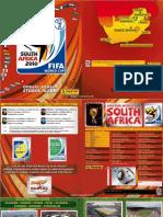 11. Álbum Panini Copa Del Mundo Sudafrica 2010