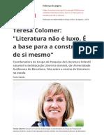 Literatura não é Luxo - Teresa Colomer