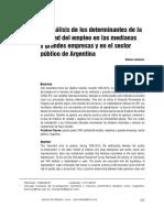 analisis de los determinantes del empleo