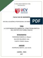 Contaminacion Ambiental en El Distrito Pueblo Nuevo