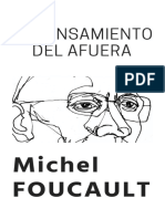 Portada El Pensamiento Del Afuera Michel Foucault