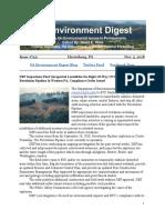 Pa Environment Digest Nov. 5, 2018