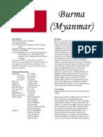 Burma Statistics