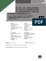 Auditoría de Las Aplicaciones Para La Planificacion