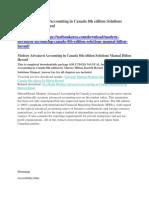 Modern Advanced Accounting in Canada 8th Edition Solutions Manual Hilton Herauf