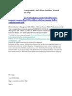 Modern Database Management 12th Edition Solutions Manual Hoffer Venkataraman Topi