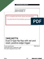 Datasheet 74HC74 (2xFFD)