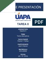TAREA 2 - Joel Muroni (2018-00032)
