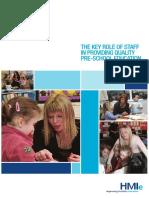 Key Role of Staff in Preschool