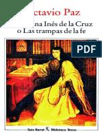 Octavio Paz - Sor Juana Inés de la Cruz o Las Trampas de La Fe (OCR)