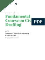 Structure of a Plaint Document