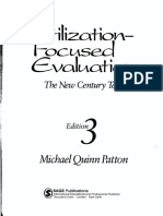 Utilization Focused Evaluation the New Century Text 3rd Ed