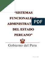 Los Sistemas Funcionales y Dministrativos Del Perú