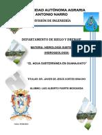 Agua Subterránea Estado de Gto.