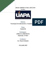 Tecnología de La Información y Comunicación I Unidad 3