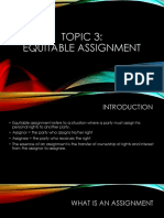 3. Equitable Assignment