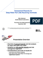 Risk Assessment-hazards for Deep Water Port Lng Receiving Terminals