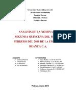 Analisis Nomina de Costos