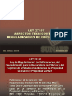 Regularizacion de Fabrica- Ley 27157