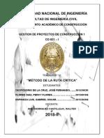 TRABAJO N°12 - METODO DE LA RUTA CRITICA (CPM)