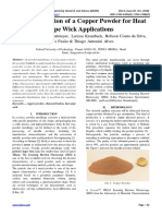 Characterization of a Copper Powder for Heat Pipe Wick Applications