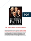 The Hidden Agenda and Faith of the Founding Fathers